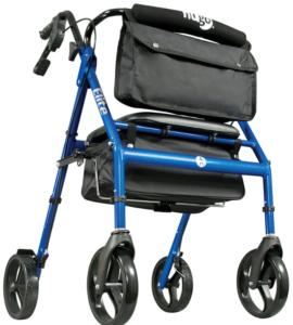 Best Walkers for Older Adults - Hugo Elite Rollator Walker with Seat, Backrest and Saddle Bag