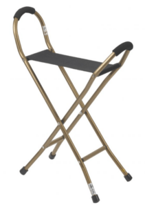 Folding Lightweight Cane With Sling-Style Seat