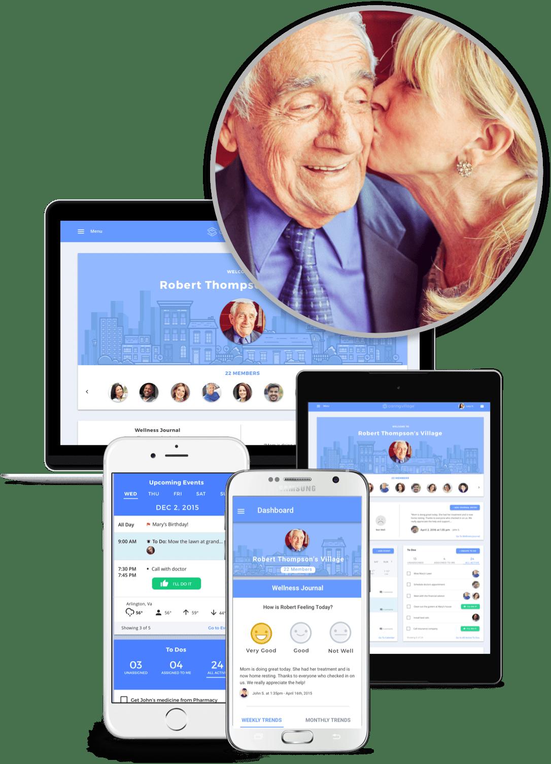 Caring Village Mobile and Desktop