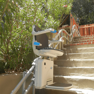 Best Stairlifts - AmeriGlide Imperial Curved Outdoor Stair Lift